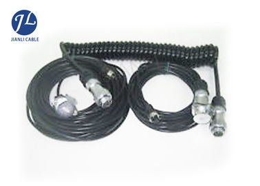 China 4M 7 Way Rear View Camera Cable , Automotive Security Camera Power Extension Cable supplier