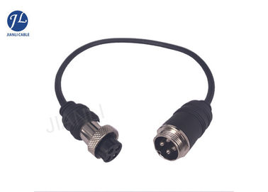 China GX16 4Pin Aviation Connector Cable For Vehicle Rear View System supplier
