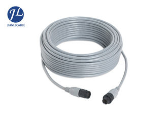 China PVC Material Backup Camera Extension Cable With 6 Pin Male And Female Mini Din Connector supplier