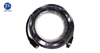 China PVC 4 Pin GX12 Reversing Camera Extension Cable , Security Camera Video Cable supplier