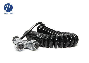 China Spiral Electrical Cord Vision Systems Cable 7 Pin Female To Female Trailer Plug supplier