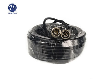 China 8 Pin Din Cable Male To Male Connector , S Video Cable For Reverse Parking Camera supplier
