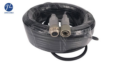 China Waterproof 6 Pin S Video Cable Male And Female Plug For Camera Rear View System supplier