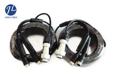 China Truck / Ambulance DVR CCTV Camera Extension Cable 7 Pin Trailer Plug Oil Resistant supplier