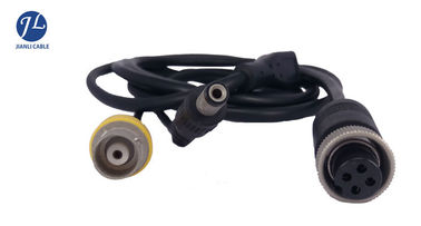 China Customize RG59 BNC RCA CCTV Cables And Accessories , Reversing Camera 4 Pin Cable supplier