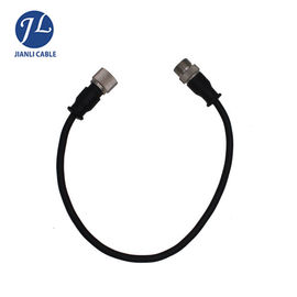 Water Resistant 4 Pin GX12 Video Security Camera Cable / Reversing Camera Extension Cable