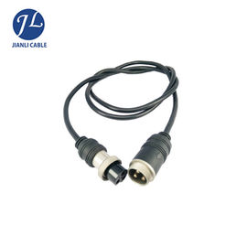 China Water Resistant 4 Pin GX12 Video Security Camera Cable / Reversing Camera Extension Cable supplier