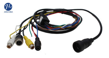 China 12V 24V 13 Pin Din Cable For Rear View System , Video And Power Cable Single Shielding distributor