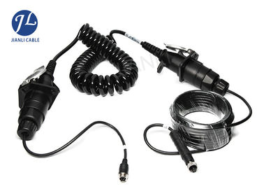 China Waterproof Curly Spiral Power Cord 7 Pole For Video Audio Power Signal Transmission distributor