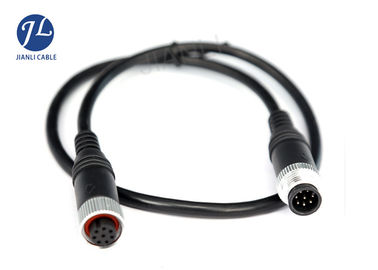 China Customized Slim 7 Pin Mini Din Cable Female To Male For Car DVD Monitoring System distributor