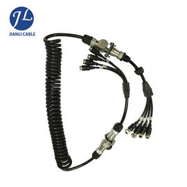 China 7 Pin Male Connect Four Female Aviation Cable For Split Screen Reversing Camera System factory