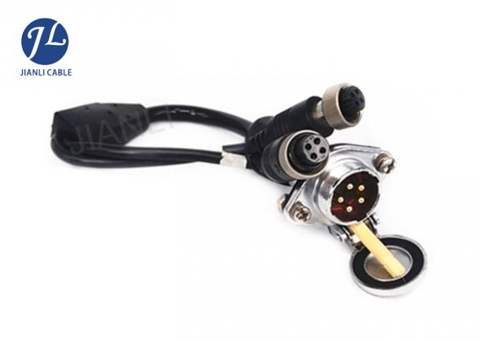 Vehicle Reversing Camera Extension Cable With Heavy Duty 5 Pin Connector