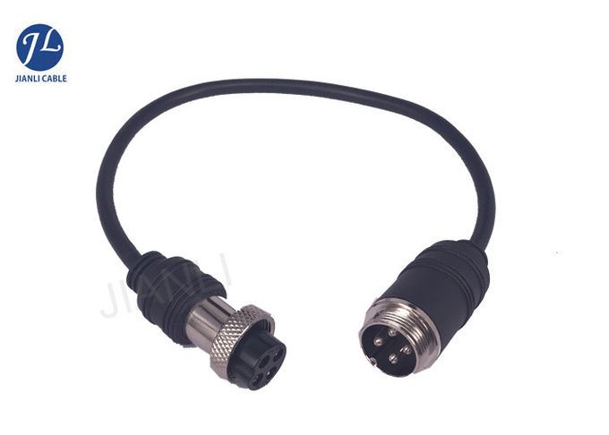 GX16 4Pin Aviation Connector Cable For Vehicle Rear View System