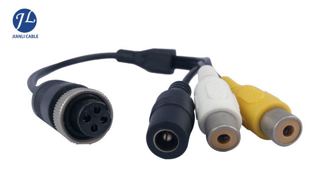 Hot Selling Waterproof RCA To 4 PIN Cable Connect With Vehicle Rear View Reverse Camera System